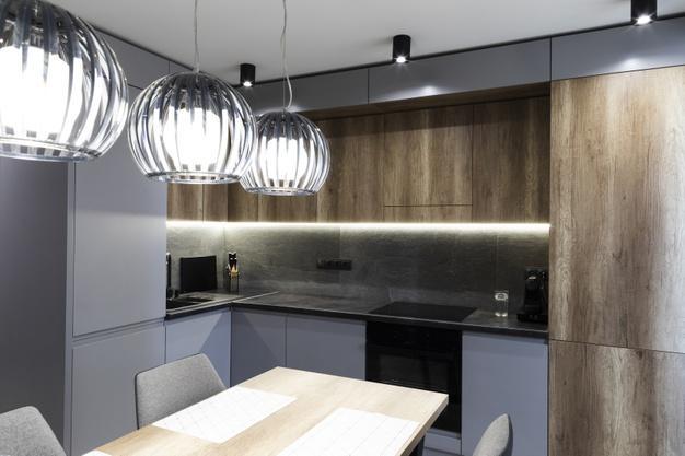 نورپردازی اپن آشپزخانه