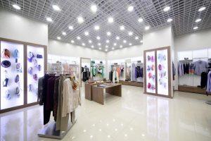 نور در دکوراسیون مغازه
