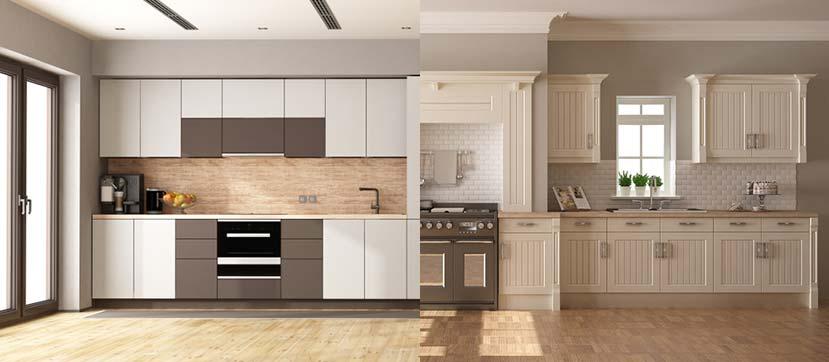 کابینت آشپزخانه به سبک کلاسیک یا مدرن