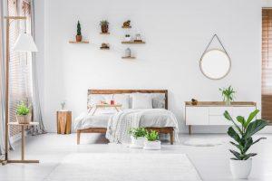 شلف دیواری در اتاق خواب